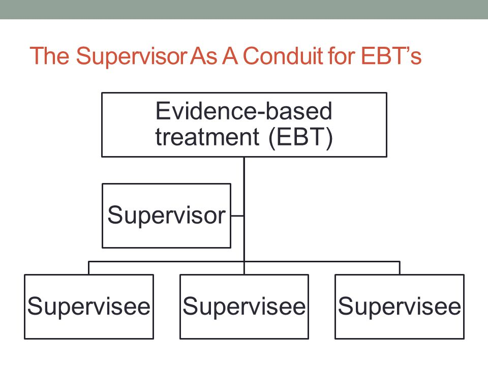 The Supervisor As A Conduit for EBT's