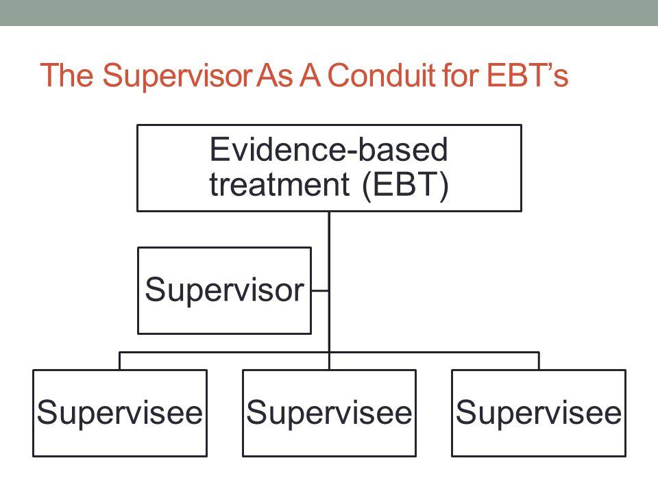 The Supervisor As A Conduit for EBT's