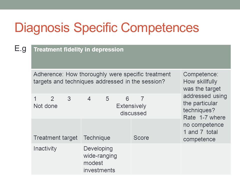 Diagnosis Specific Competences