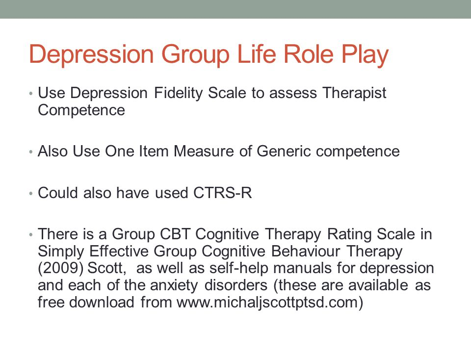 Depression Group Life Role Play
