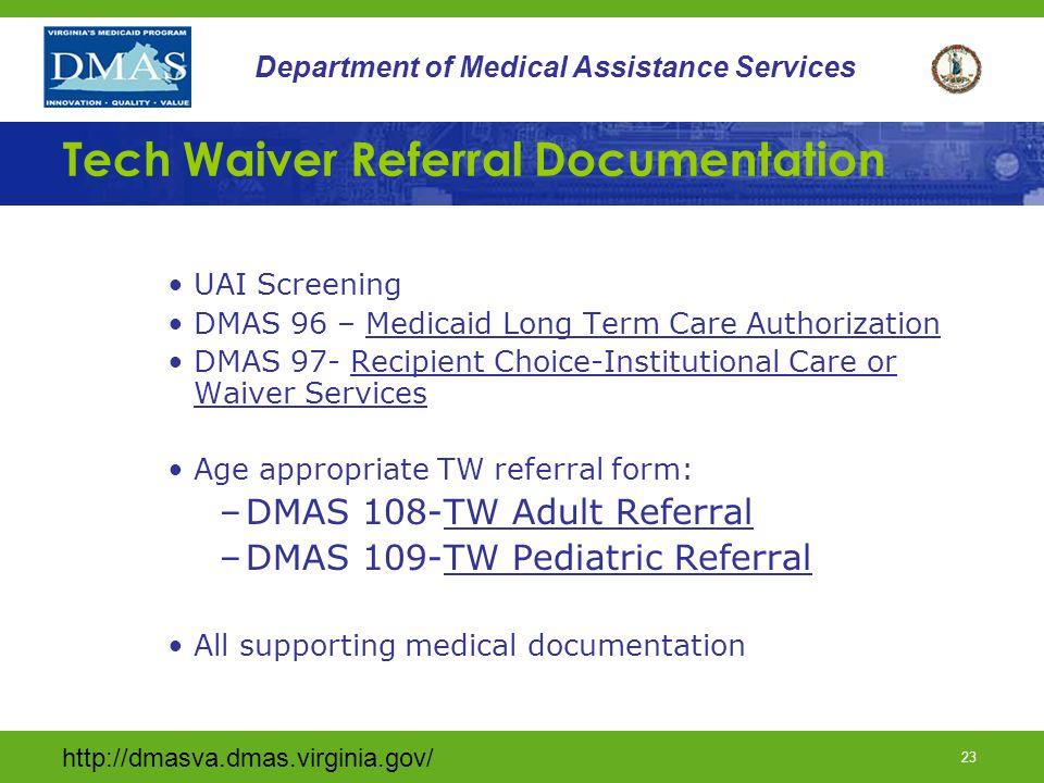 Tech Waiver Referral Documentation