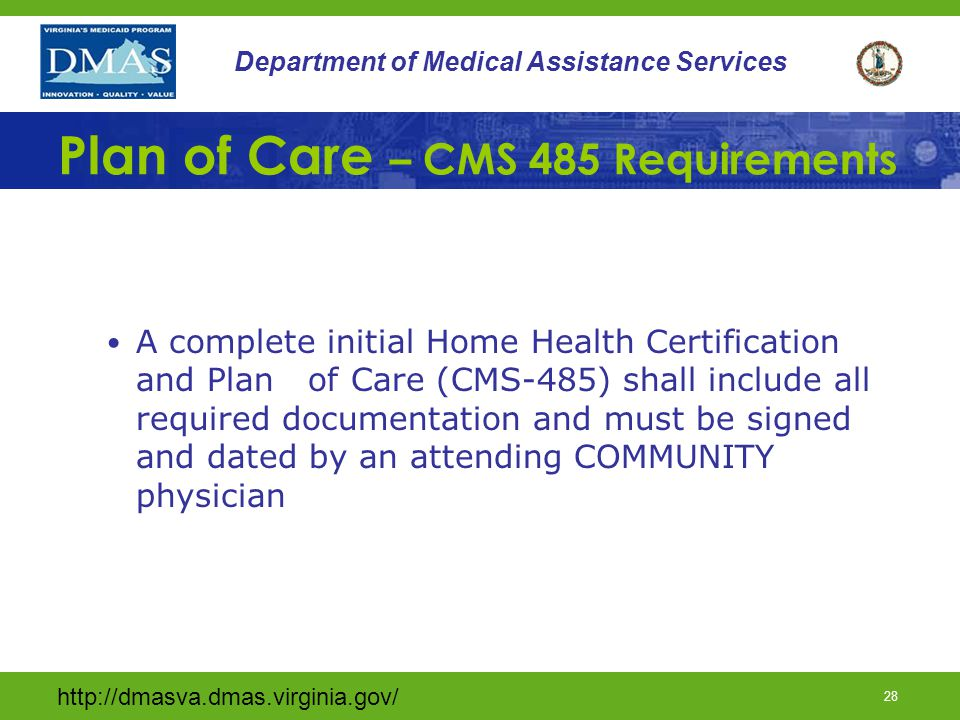 Home Health Plan Of Care Requirements Home Plan