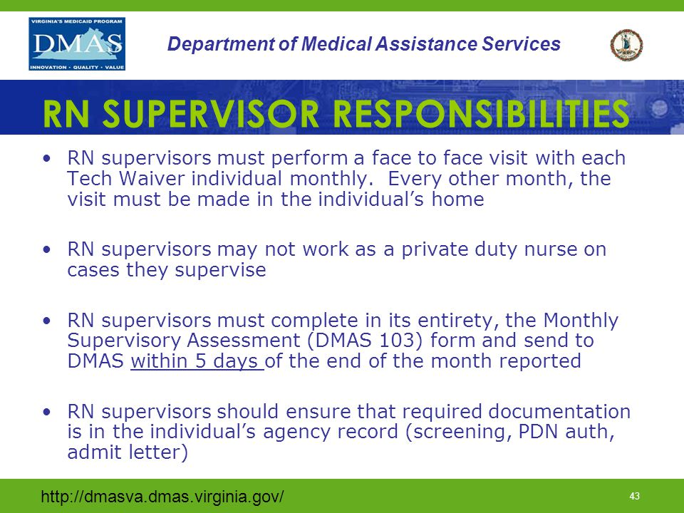 RN SUPERVISOR RESPONSIBILITIES
