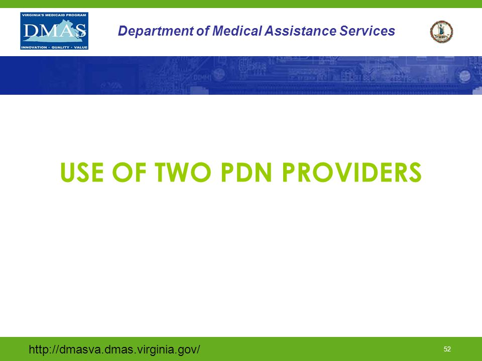 USE OF TWO PDN PROVIDERS
