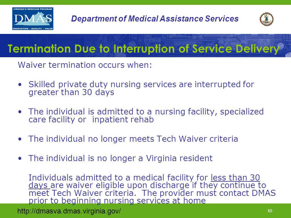 Termination Due to Interruption of Service Delivery
