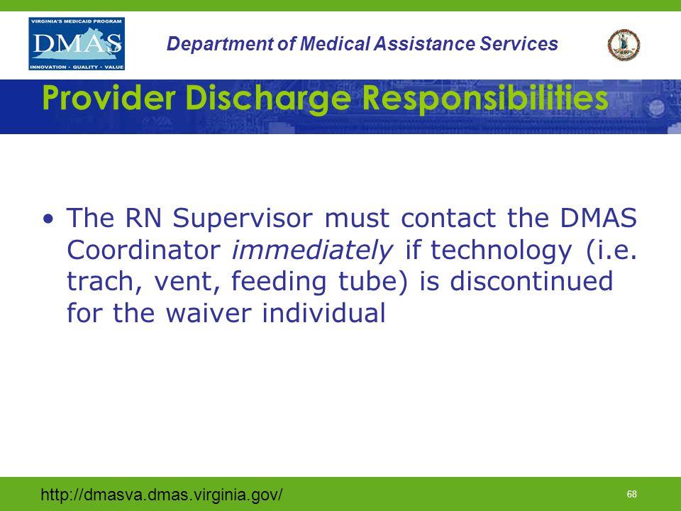 Provider Discharge Responsibilities