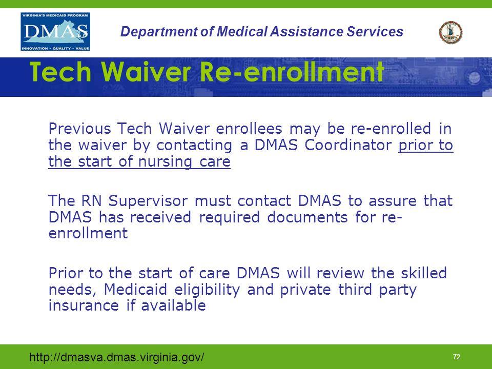 Tech Waiver Re-enrollment