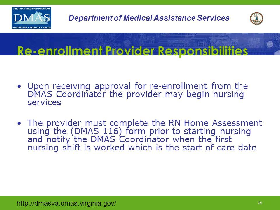 Re-enrollment Provider Responsibilities
