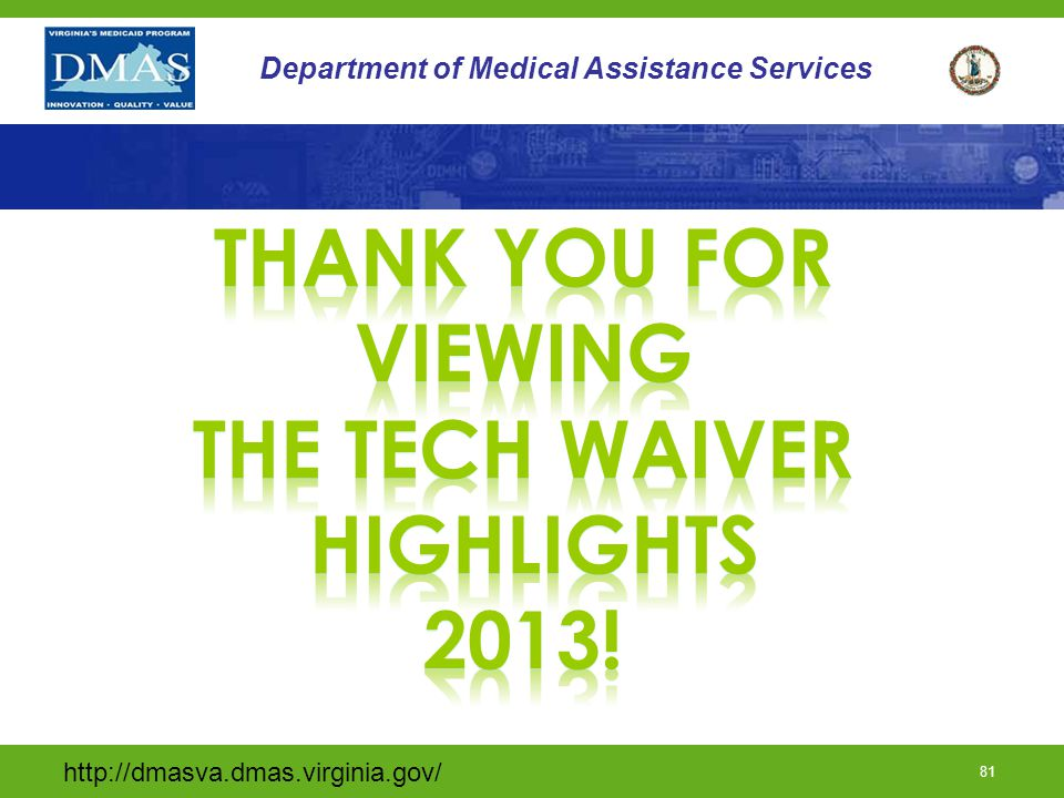 Thank you for viewing The tech waiver highlights 2013!