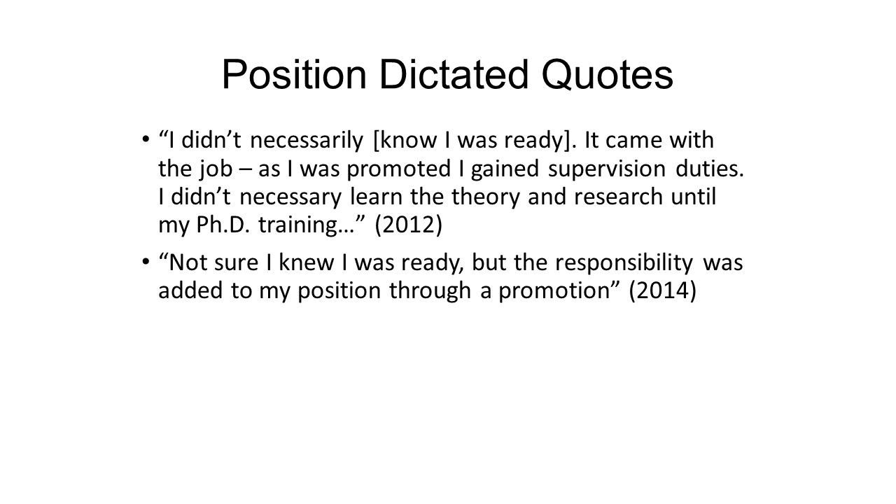 Position Dictated Quotes