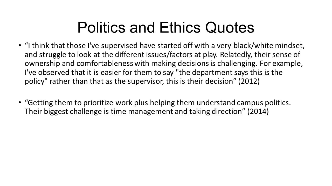 Politics and Ethics Quotes
