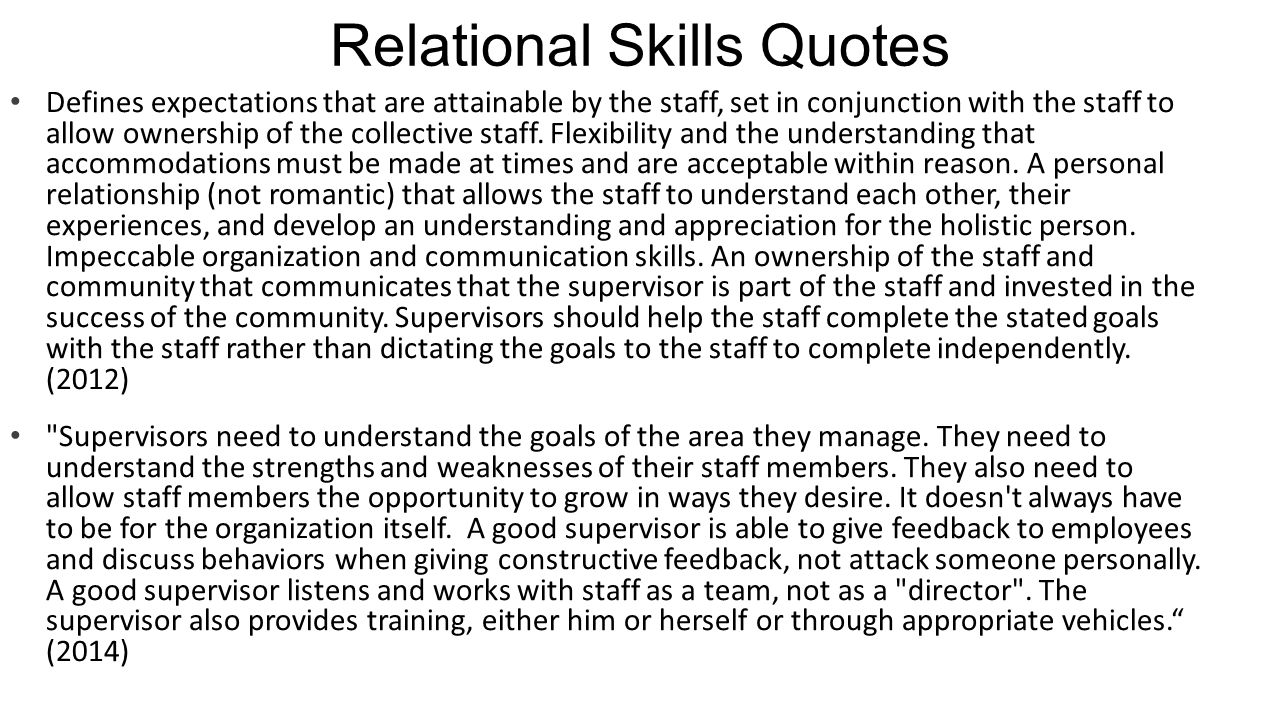 Relational Skills Quotes