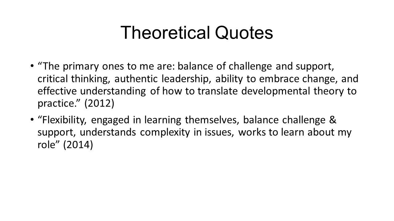 Theoretical Quotes