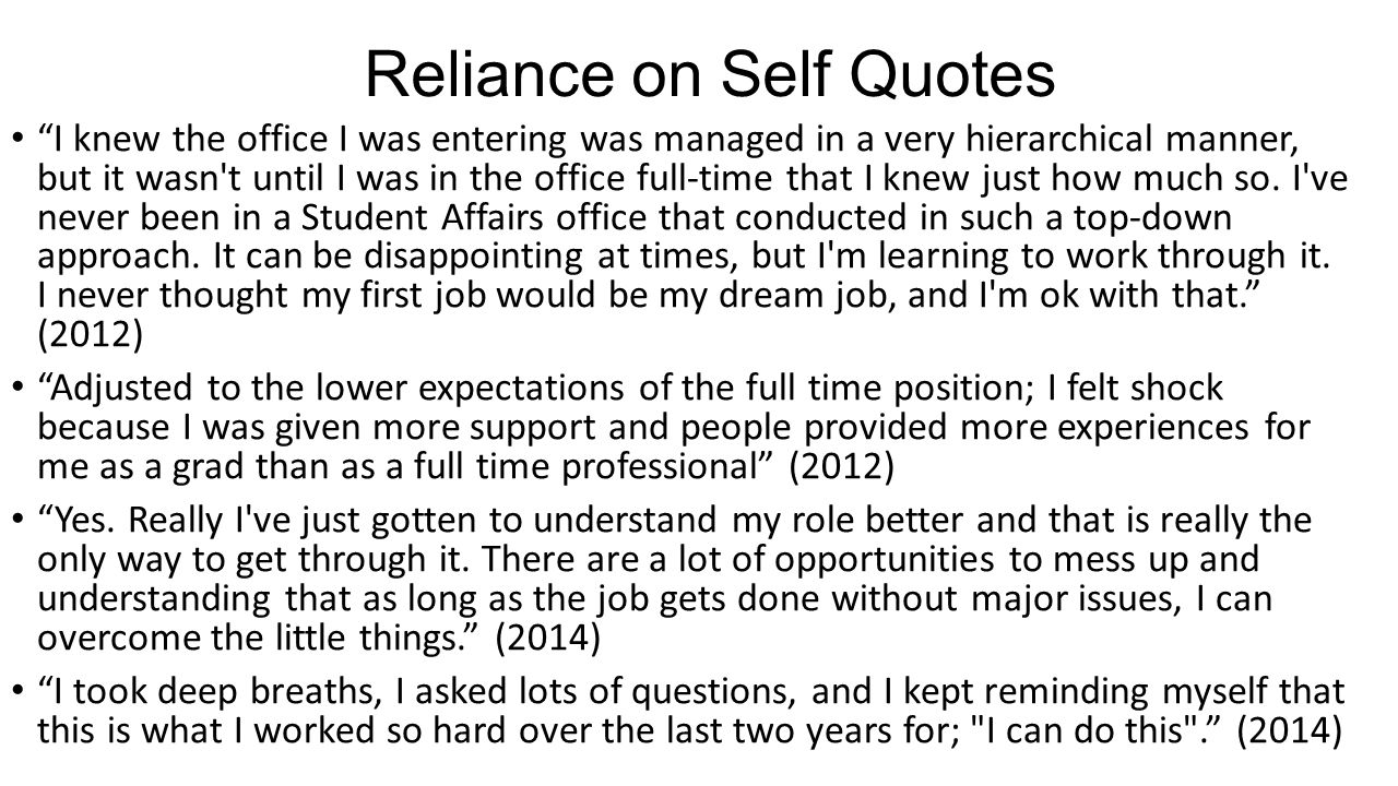 Reliance on Self Quotes