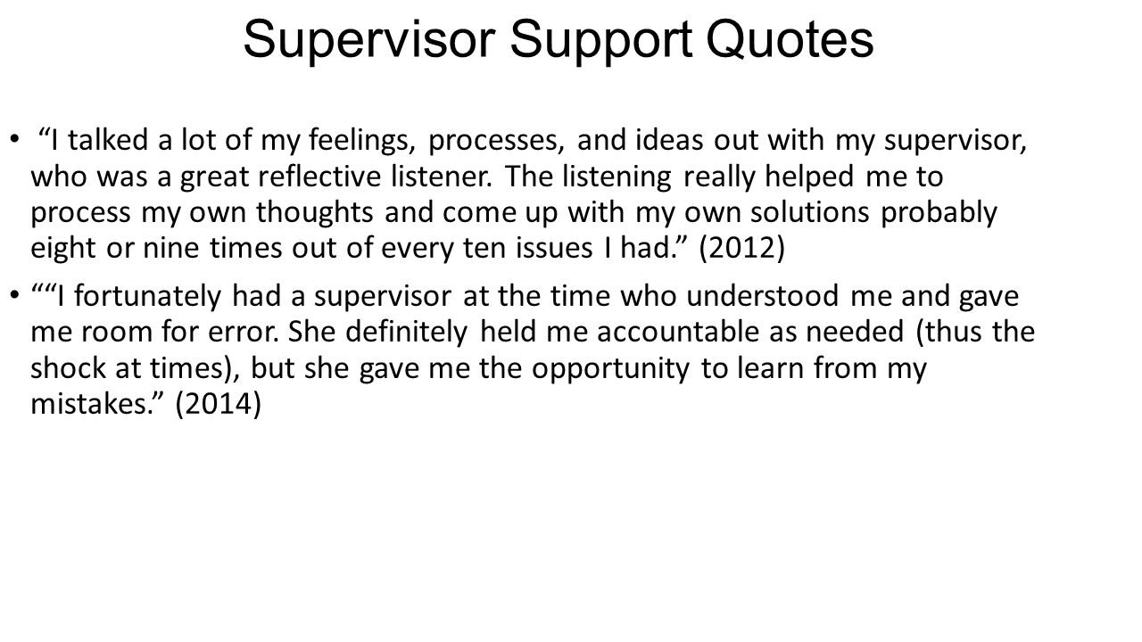 Supervisor Support Quotes