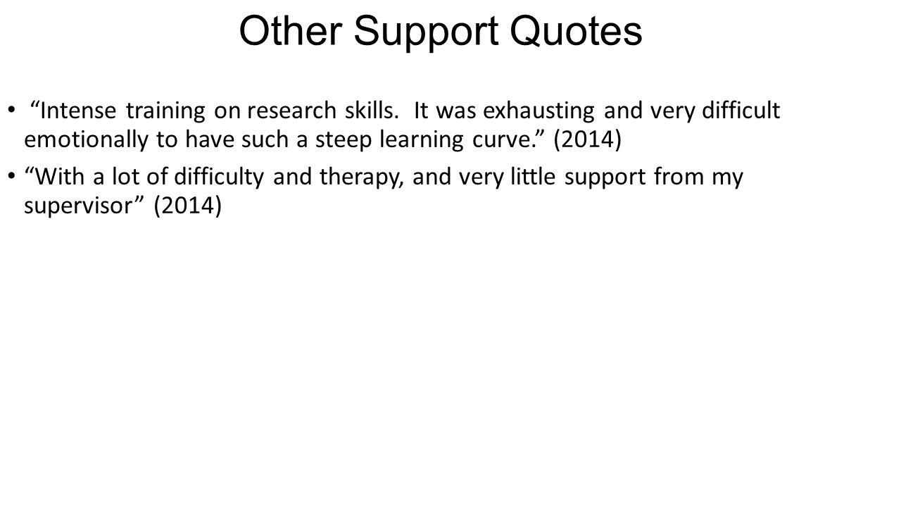Other Support Quotes