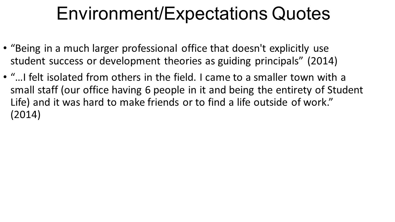 Environment/Expectations Quotes