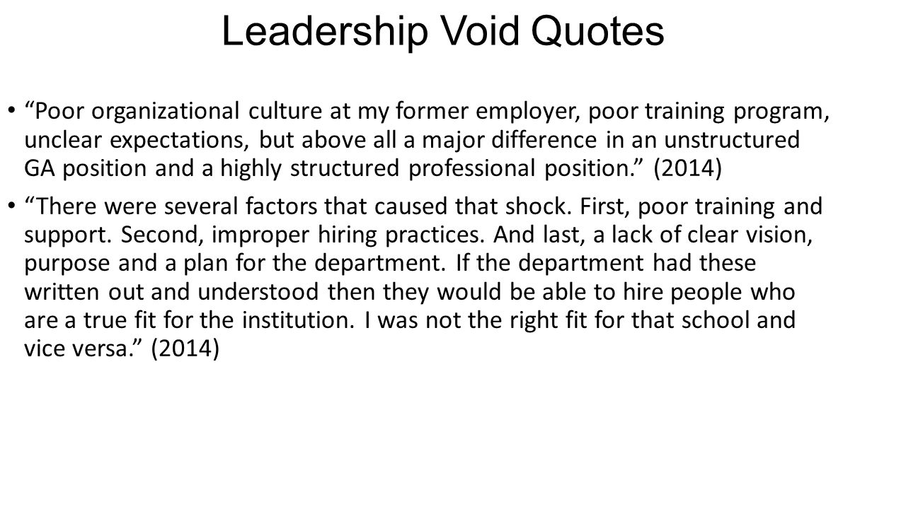 Leadership Void Quotes
