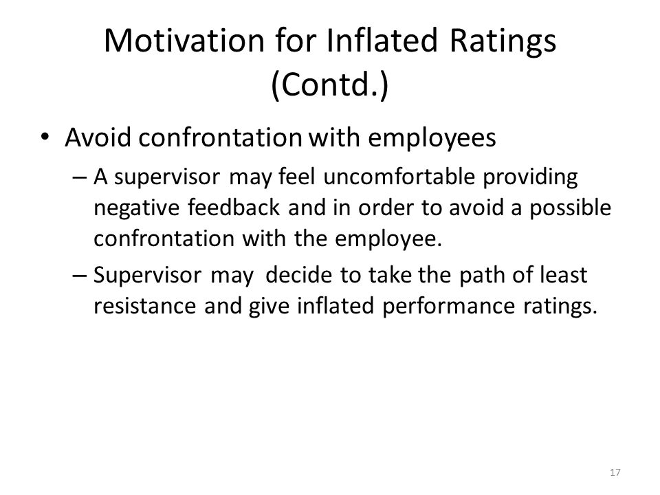 Motivation for Inflated Ratings (Contd.)