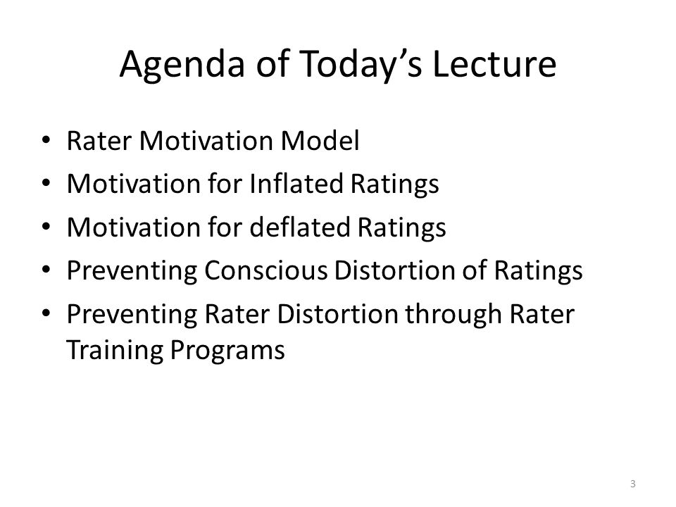 Agenda of Today's Lecture