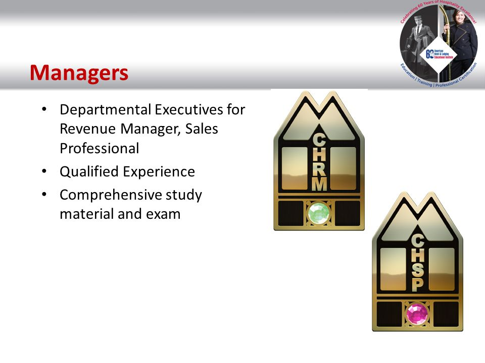 Managers Departmental Executives for Revenue Manager, Sales Professional.
