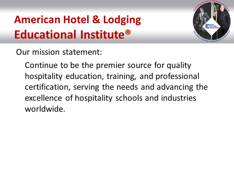 American Hotel & Lodging Educational Institute®