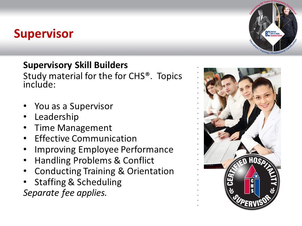 Supervisor Supervisory Skill Builders
