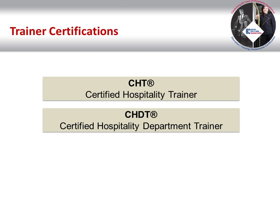 Trainer Certifications