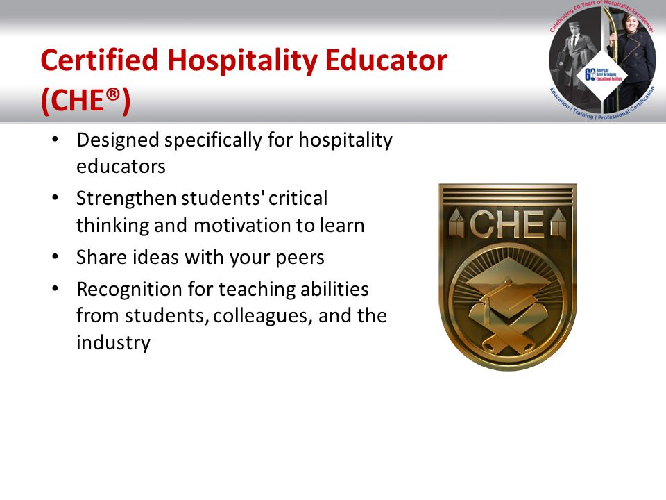 Certified Hospitality Educator (CHE®)