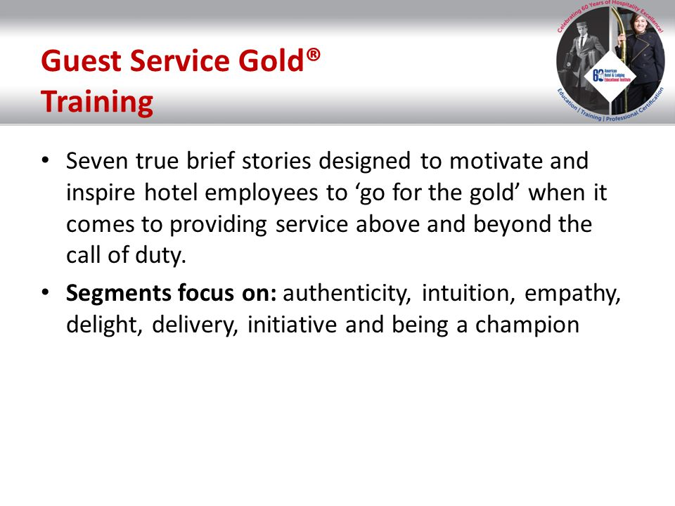 Guest Service Gold® Training