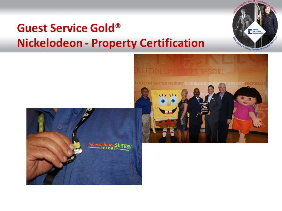 Guest Service Gold® Nickelodeon - Property Certification