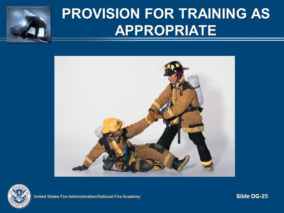 Provision for Training as Appropriate