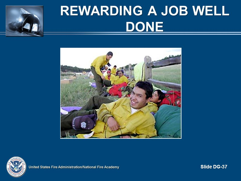 REWARDING A JOB WELL DONE