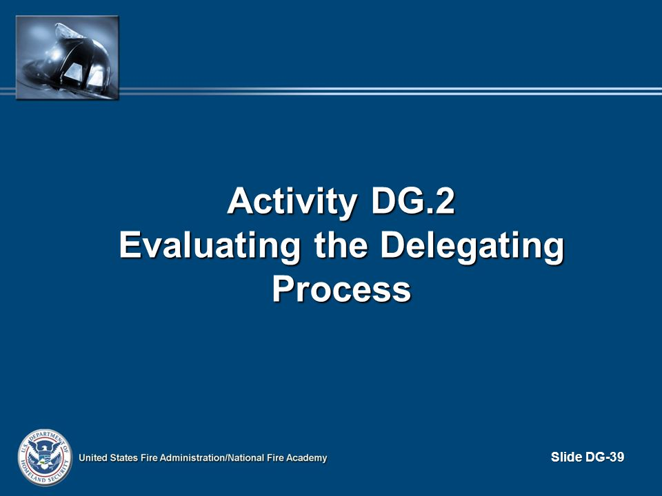 Activity DG.2 Evaluating the Delegating Process