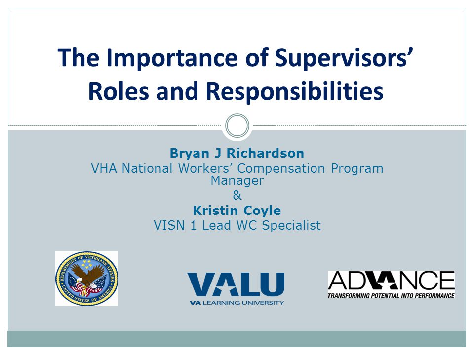 The Importance of Supervisors' Roles and Responsibilities