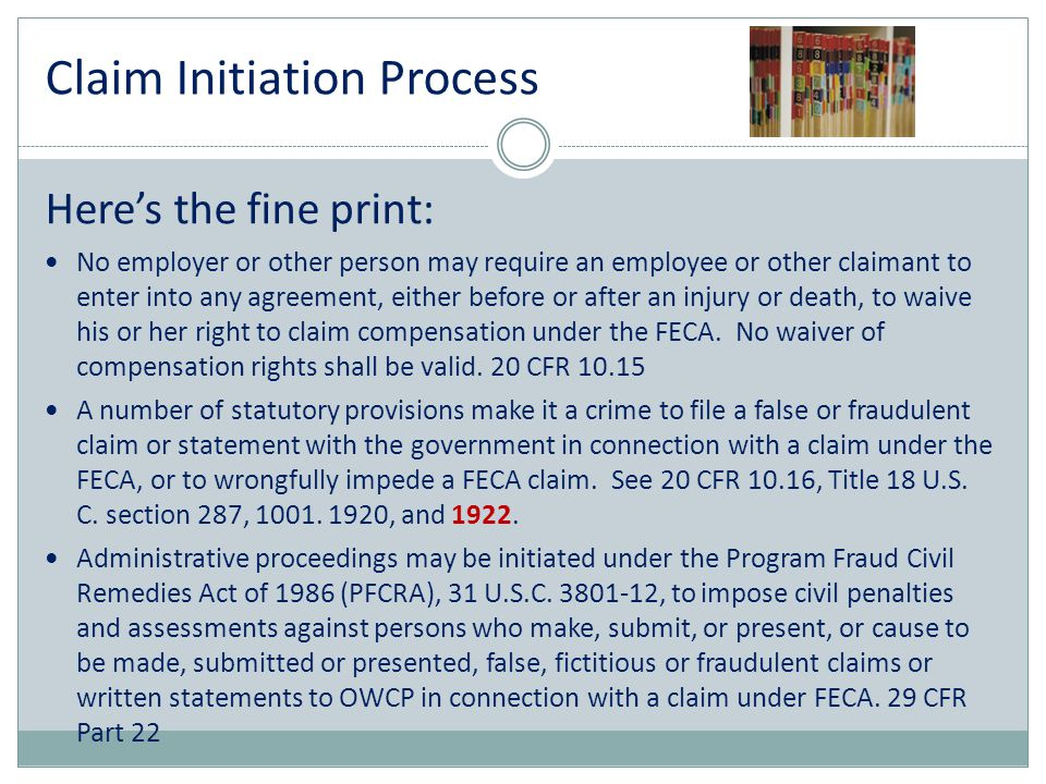 Claim Initiation Process
