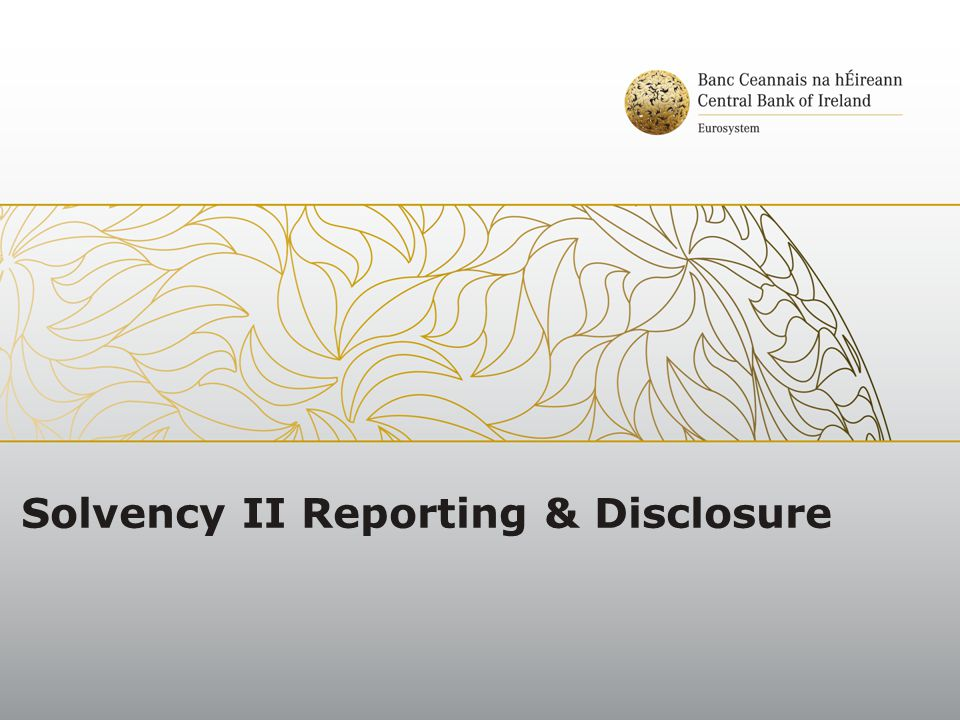 Solvency II Reporting & Disclosure