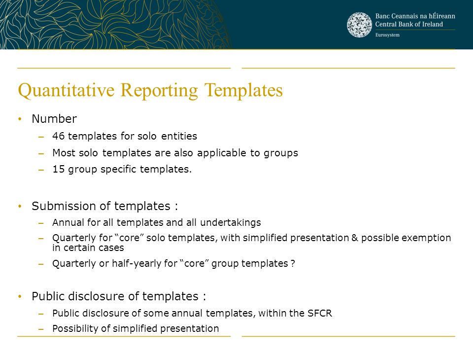 Quantitative Reporting Templates