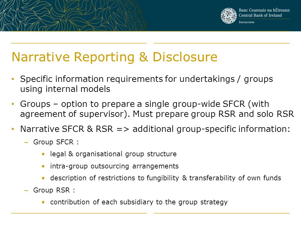 Narrative Reporting & Disclosure