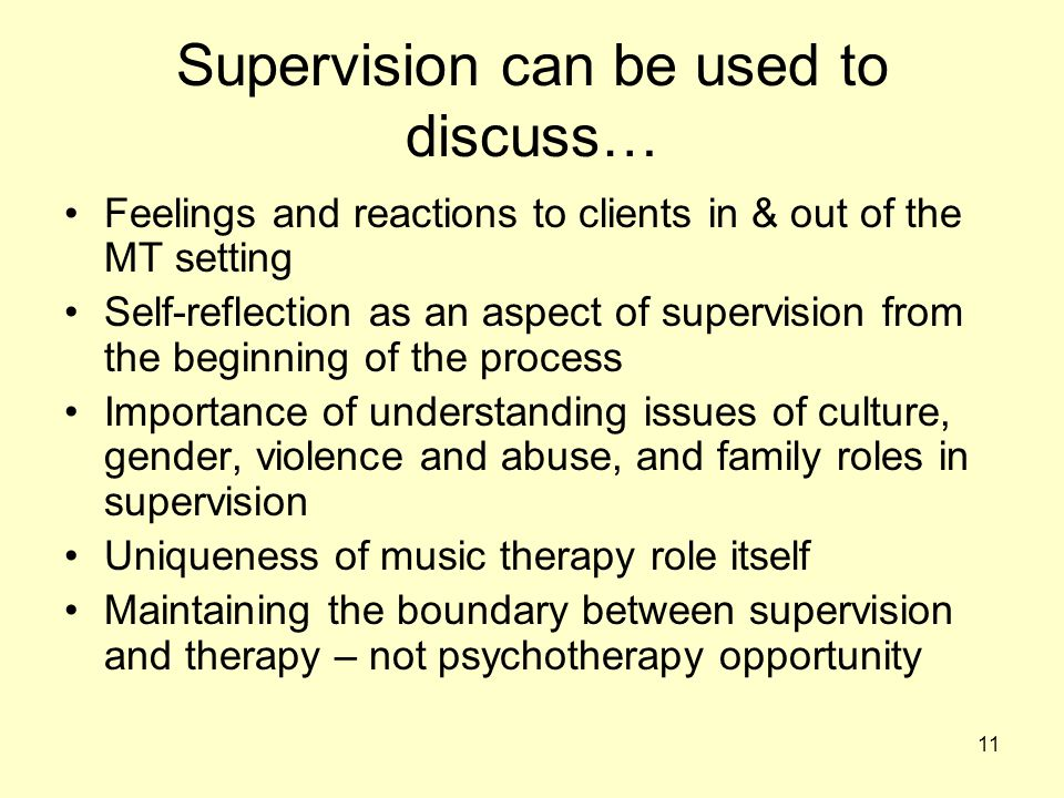 Supervision can be used to discuss…