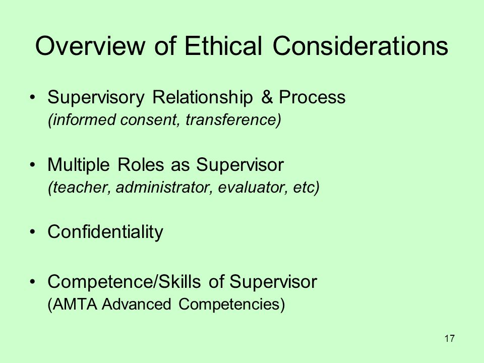 Overview of Ethical Considerations