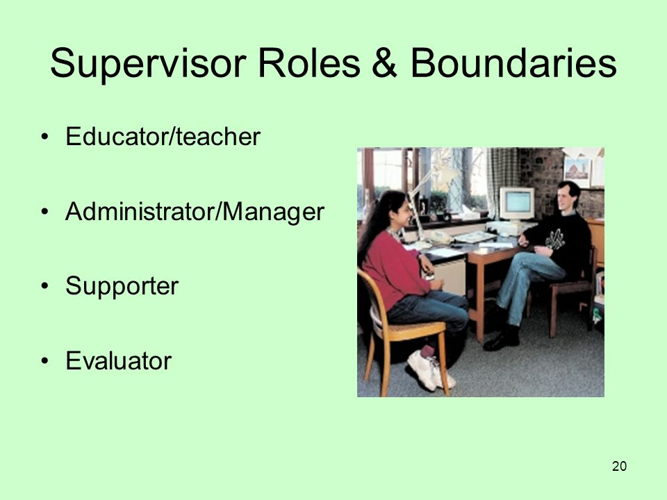 Supervisor Roles & Boundaries