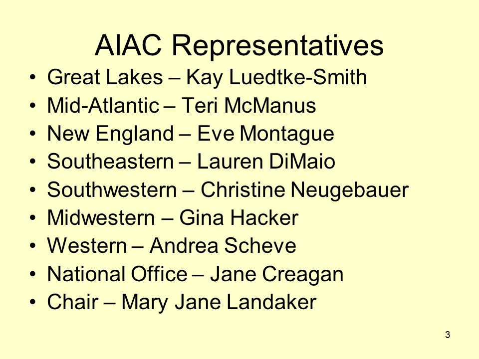 AIAC Representatives Great Lakes – Kay Luedtke-Smith