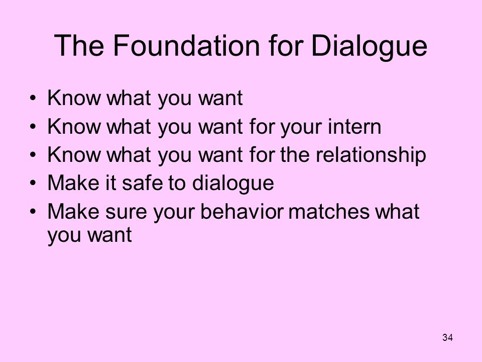 The Foundation for Dialogue