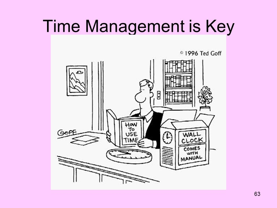 Time Management is Key How many of us try to help interns learn this skill…we need to role model this as well.
