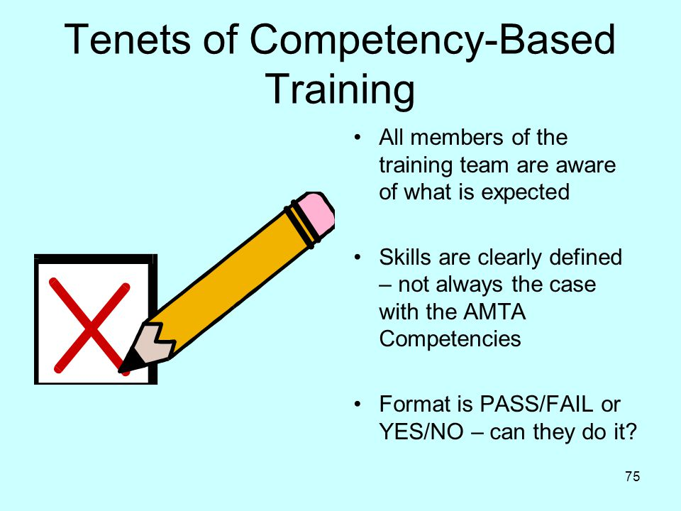Tenets of Competency-Based Training