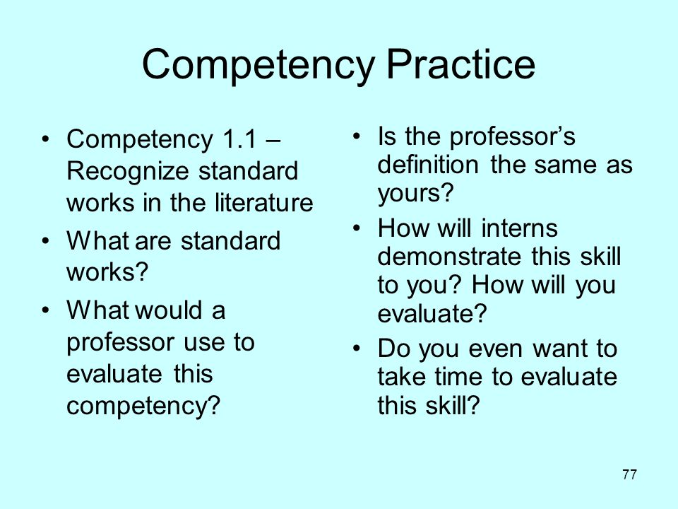 Competency Practice Competency 1.1 – Recognize standard works in the literature. What are standard works