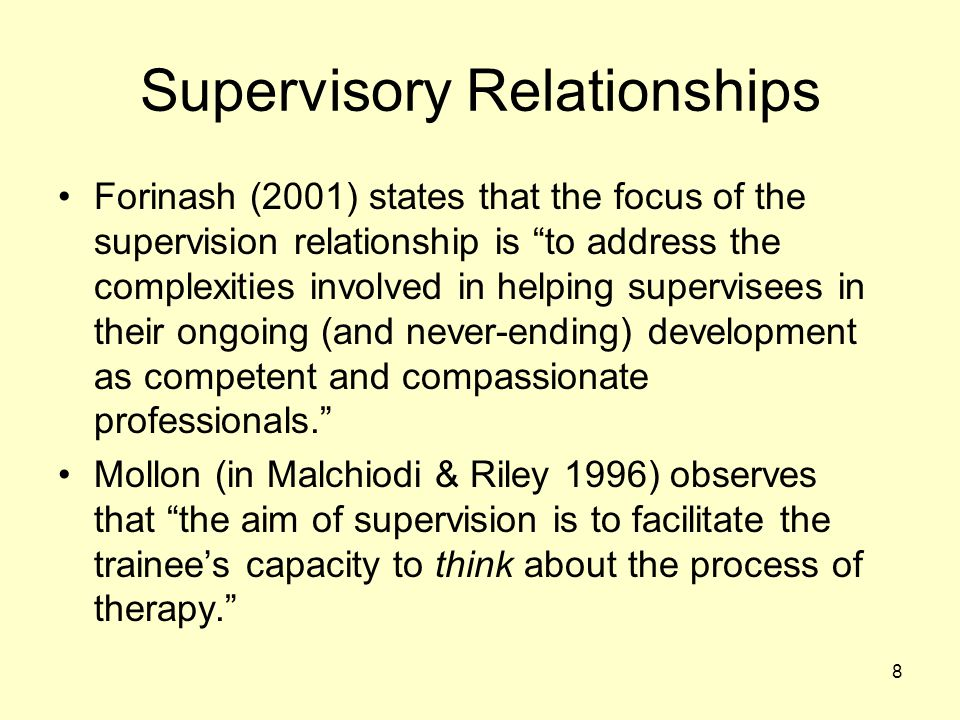 Supervisory Relationships