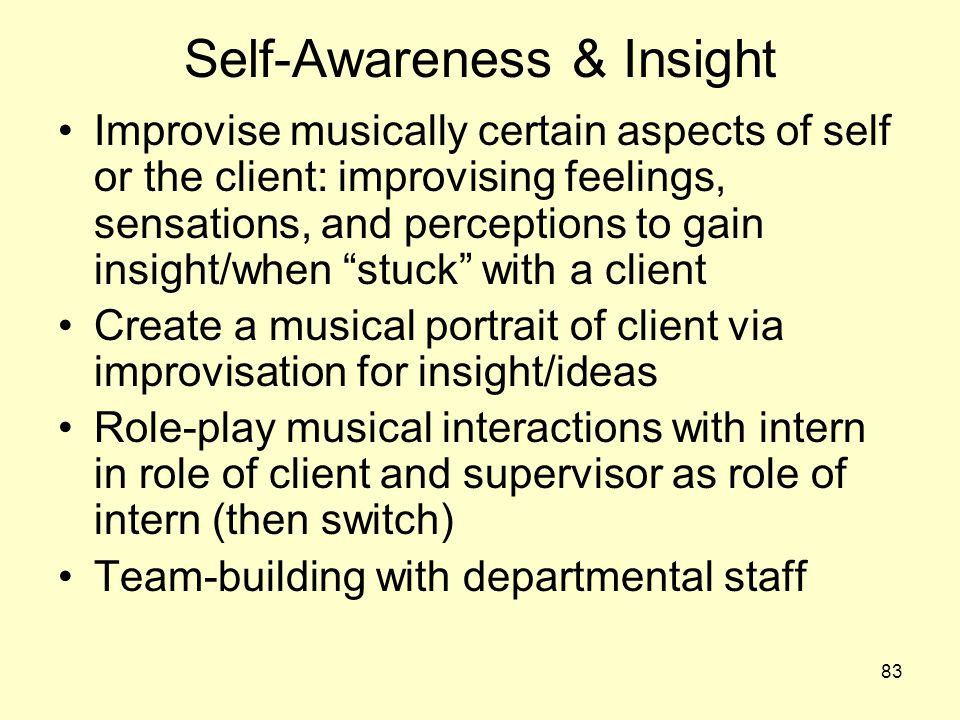Self-Awareness & Insight