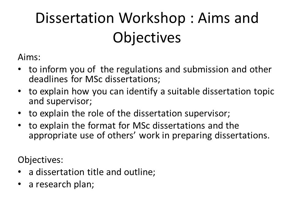 phd thesis aims and objectives Project goal and objectives when writing out your phd thesis, it is important that you clearly indicate the goals and objectives of the research project people .